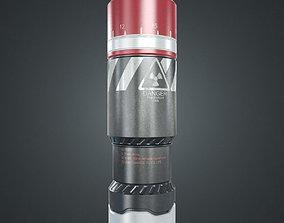 3D asset Sci-fi radioactive grenade