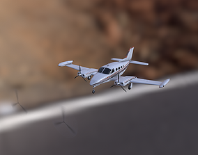 Cessna C402 3D asset