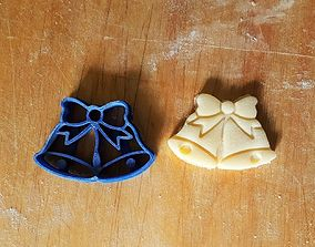 Christmas Xmas Bells cookie cutter 3D print model