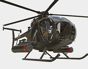 3D asset Little Bird MH-6 Helicopter
