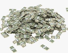 3D model Piles of Money 001