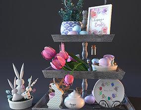 3D vase happy ester decorative set