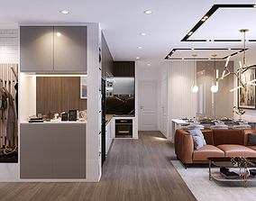Full Apartment Design 2 3D model animated