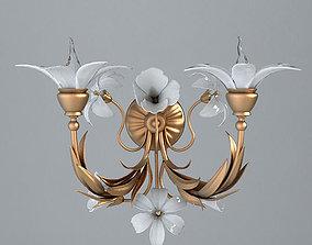 Antique Detailed Sconce Light 2 3D
