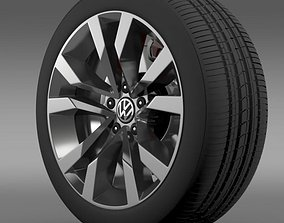 VW Beetle TDI 2012 wheel 3D