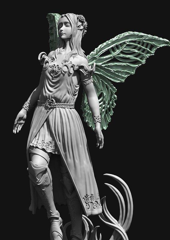 Fairy figurines 3D print model