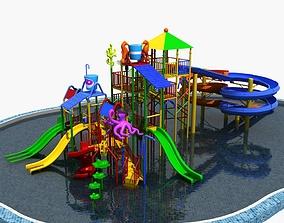 Water Children Slide 3D