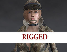 3D model Female Soldier Rigged