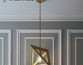 3D model Hanging lamp Wood Triangle by Romatti