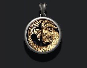 Horoscope Capricorn pendant 3D printable model