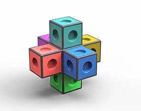 3D model toy cube VR / AR ready