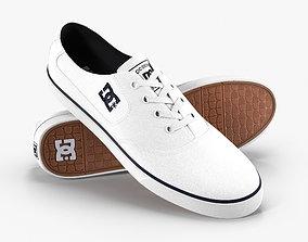 DC Shoes - Flash TX - White 3D model