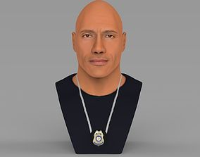 Dwayne Rock Johnson bust ready for full color 3D 1