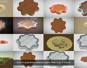 3D model Cookies gingerbread collection game ready vr ar