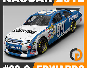 Nascar 2012 Car - Carl Edwards Ford Fusion 99 3D