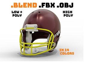 Generic American Football Helmet with Multiple 3D asset 1