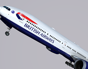 Boeing 777-9x British Airways 3D model