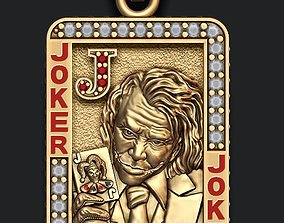 router Joker playing card pendant 3D print model
