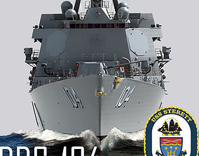 Arleigh Burke Class Destroyer Flight IIA DDG-104 3D