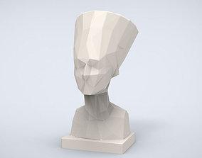 Printable Nefertiti Bust Lowpoly Style