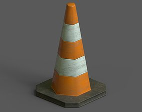 Lowpoly Pbr Game Ready Traffic Cone 3D asset