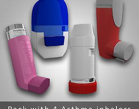 3D Asthma inhaler Pack - 4 devices