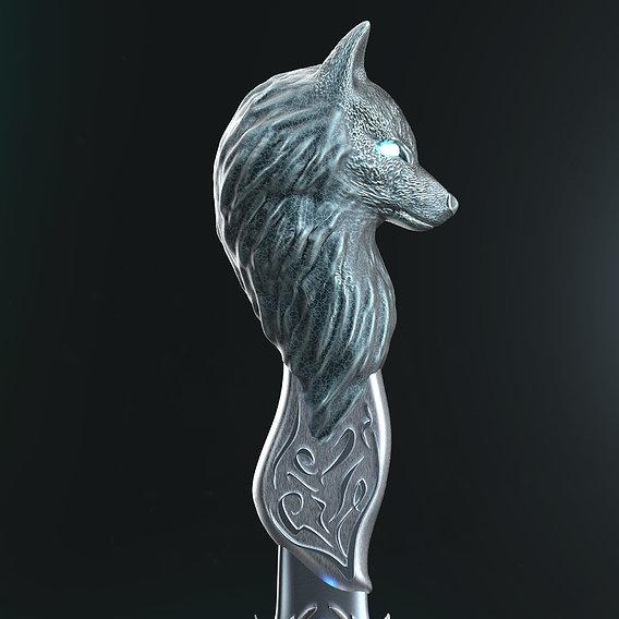 Shewoulf Dagger 3D print model