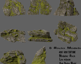 3D asset rocks set 6