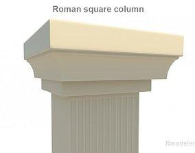 3D model Roman Square column