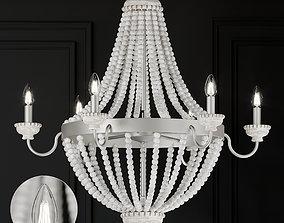 Ballard Designs Angela 6-Light Chandelier 3D model