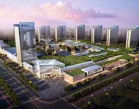 road 3D model City Shopping Mall