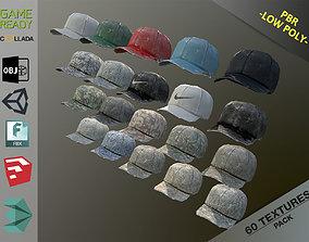 3D asset Caps Pack 1