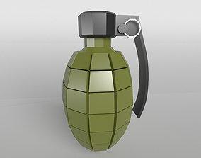 Grenade v1 001 3D asset