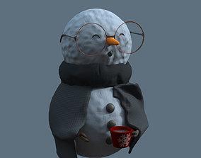 Sick snowman 3D