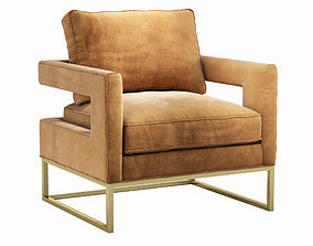 3D Avery Cognac Velvet Chair