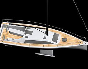 sailing Sailboat 3D