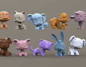 3D printable model toy animal