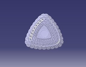 pk triangular sweet dish 3D printable model