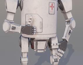 Robot medic 3D model low-poly