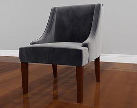 3D model Antonio Dark grey Velvet