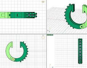 3D printable model Lightwave Hoop Earrings