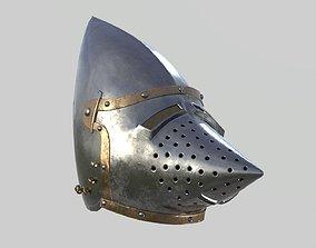 Medieval Bascinet Helmet 3D model