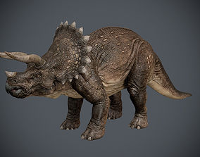 Triceratops 3D model animated
