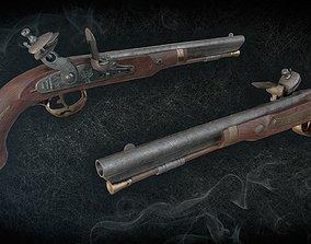 Harpers Ferry Flintlock Pistol 3D model