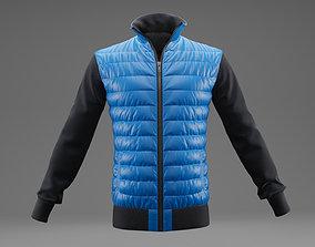3D model Winter jacket blue