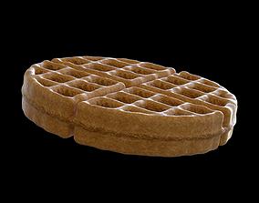 animated octane Waffle 3D model