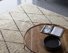 Realistic Wool Rug using Corona Hair and 3D model