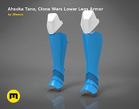 3D print model Ahsoka Tano Clone Wars Lower Legs Armor
