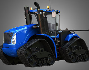 3D model NH - T9 Articulated Tractor - With Rubber Tracks