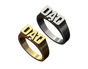 DAD statement name signet ring size 6 3D printable model 1